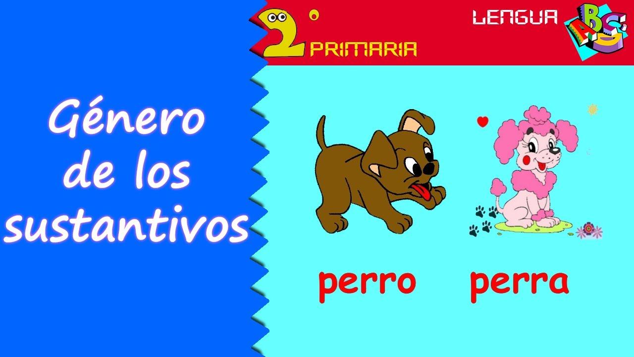 Lengua, 2º Primaria. Tema 7. El género de los sustantivos
