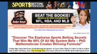 My Sport Betting Professor Review   Honest Review About Sport Betting Professor System
