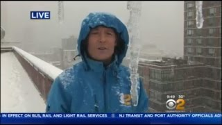 Snow Conditions On The CBS2 Weather Deck