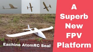 Eachine AtomRC Seal 1200mm FPV Airplane Maiden Flight review