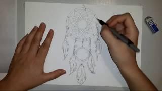 Как нарисовать ловитель снов карандашом