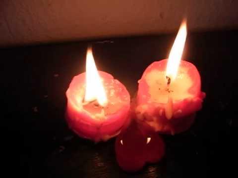 Wunder: Liebe der Kerzen - Herz zweier Kerzen - Herz aus Wachs