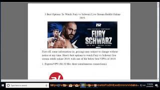 fury schwarz live stream reddit - Thủ thuật máy tính - Chia