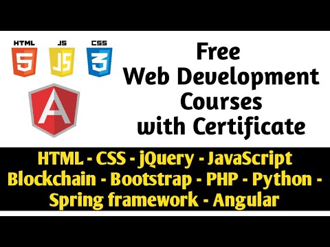 Free web development courses with certificate | Become a ...