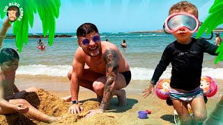 Games de verão no mar com Sofia João e Lucas