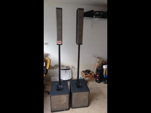 caixa som Subwoofer + torre vertical - faça você mesmo