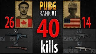 PUBG Rank 1 - Shroud & chocoTaco 40 kills [NA] Duo FPP - PLAYERUNKNOWN