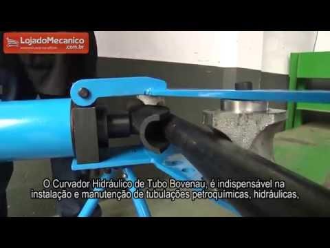 Curvador Hidráulico de Tubo com Capacidade 18 Toneladas - Video