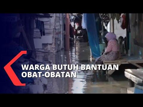 sepekan banjir rob merendam muara angke warga terserang penyakit kulit