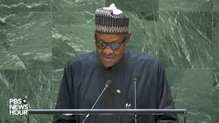 WATCH: Nigeria President Muhammadu Buhari's full speech to the UN General Assembly