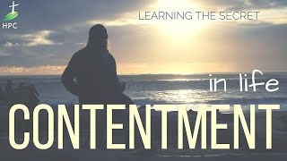 Contentment – in Life
