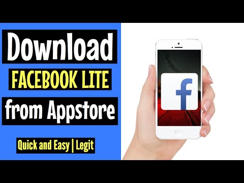How to download FACEBOOK LITE on Appstore   FREE and EASY 2018   for Iphone