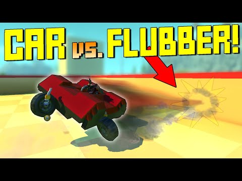 Driving a Flubber Car in a Flubber Arena IS WRONG  - Scrap Mechanic Gameplay