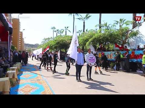 عرض عسكرى احتفالاً بنصر أكتوبر بجامعة المنصورة
