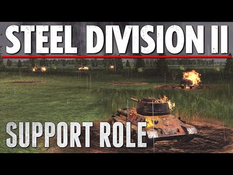 SUPPORT ROLE - Steel Division 2 - Multiplayer Gameplay [3v3 - Lyakhavichi]