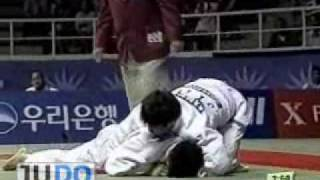 JUDO2002AsianGames:MasatoUchishiba内柴正人JPN-Min-HoChoiKOR