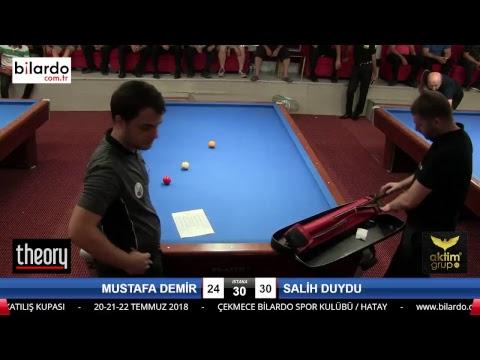MUSTAFA DEMİR & SALİH DUYDU Bilardo Maçı - HATAYIN ANVATANA KATILIŞ KUPASI-2. Tur