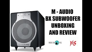 M-Audio BX Subwoofer Unboxing and Test