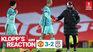 Klopp's Reaction: 'We can take a lot, but the cup is about the result' | Man Utd vs Liverpool