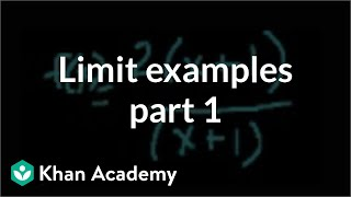 Limit Examples (part 1)