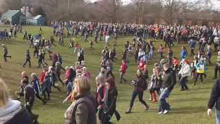 preview picture of video 'Ashbourne Royal Shrovetide Football 2014 - Play crosses down onto Ashbourne's Sports Fields.'