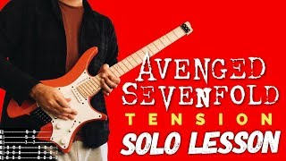 Guitar Study: Avenged Sevenfold - Tension SOLO Lesson
