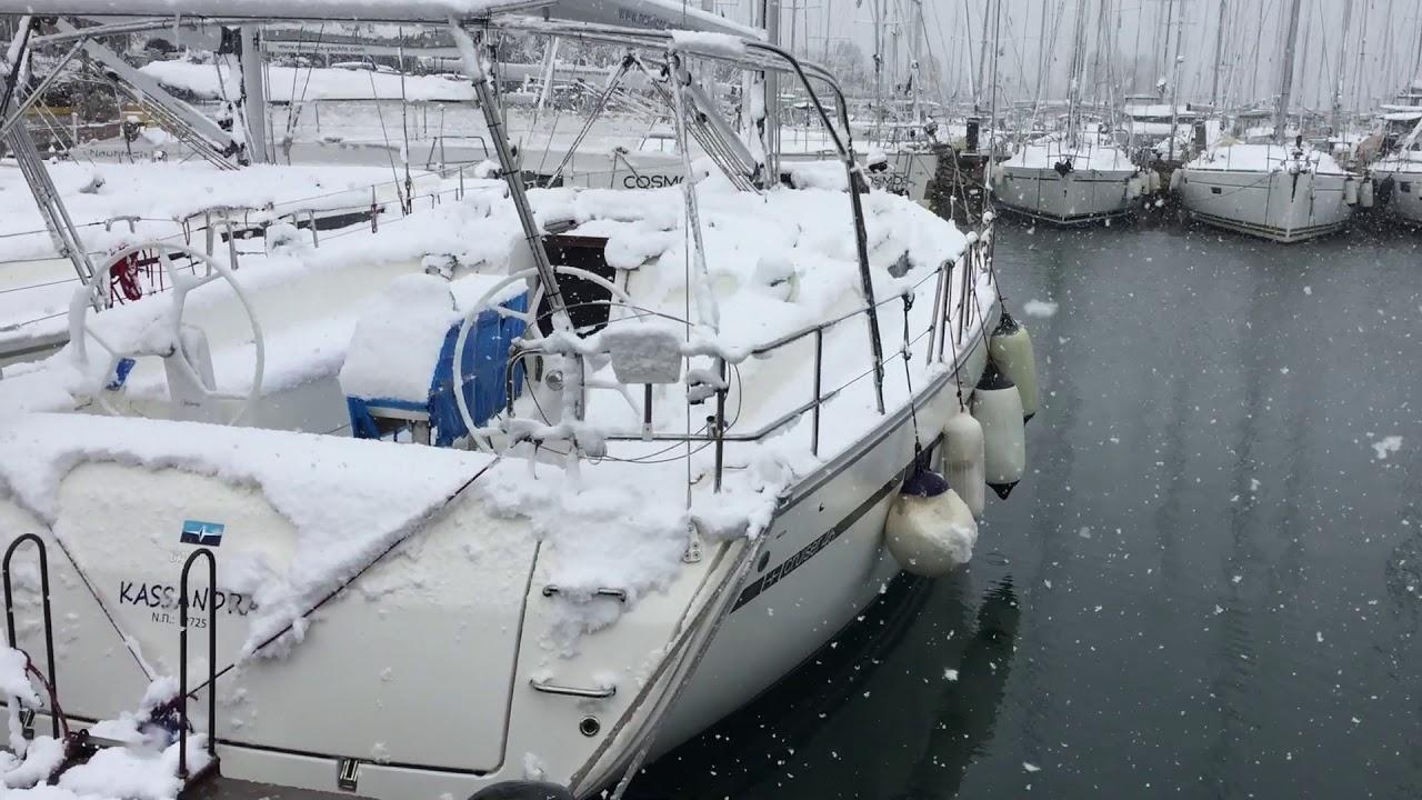 Snowing on Kassandra 16 02 21