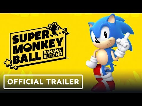 Super Monkey Ball: Banana Blitz HD - Sonic Announcement Trailer