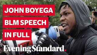 """Subscribe to the Evening Standard on YouTube: https://www.youtube.com/channel/UC7RQon_YwCnp_LbPtEwW65w?sub_confirmation=1  Star Wars actor John Boyega has given an emotional speech at a Hyde Park demonstration about the death of George Floyd in the US.  Boyega joined thousands of protestors in Hyde Park in a peaceful demonstration in support of Black Lives Matter.  The actor, who is best known for playing Finn in the recent Star Wars trilogy, referenced two other black Americans who controversially died in the US and the murder of Stephen Lawrence in the UK.  """"We are a physical representation of our support for George Floyd,"""" he told the demonstration. """"We are a physical representation of our support for Sandra Bland. We are a physical representation of our support for Trayvon Martin. We are a physical representation of our support for Stephen Lawrence.""""  Read more & pics: https://www.standard.co.uk/showbiz/celebrity-news/john-boyega-hyde-park-protest-george-floyd-black-lives-matter-a4458841.html"""