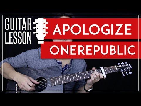 Apologize Guitar Tutorial - OneRepublic Guitar Lesson 🎸 |Tabs + ...