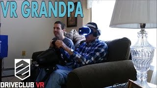 VR Grandpa is a very careful driver (Driveclub VR + wheel)