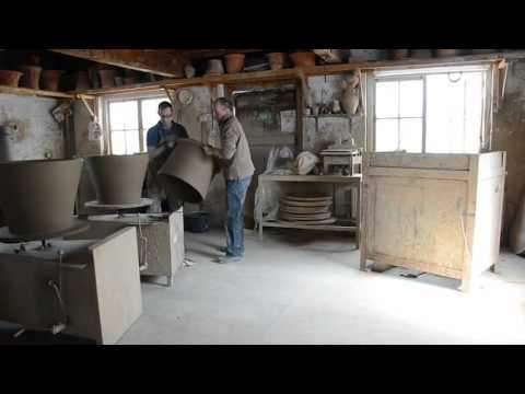 Making 2 enormous pots by hand