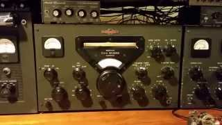 Collins KWS-1 And 75A-4 On The Air on CW