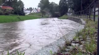 preview picture of video 'Starkregen über der Oberlausitz'