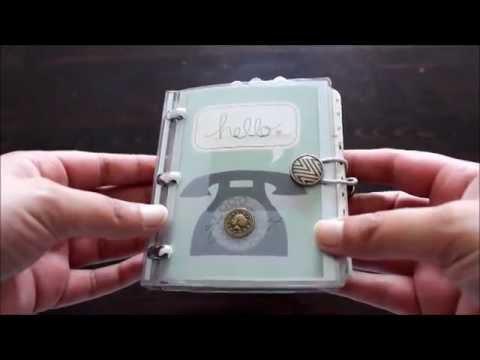 Telefon und Adressbuch Scrapbook