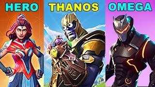 HERO vs THANOS vs OMEGA - Fortnite Battle Royale INFINITY GAUNTLET Gameplay New Update