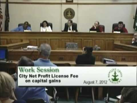 8/7/12 Board of Commissioners Work Session
