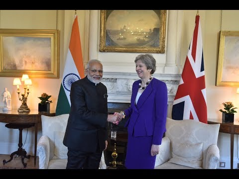 PM Modi meets UK Prime Minister Theresa May