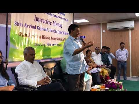 Delhi CM Arvind Kejriwal's interacted with the representatives of all RWAs across Delhi