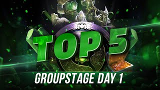 TOP5 Highlights TI8 Group stage - Day 1