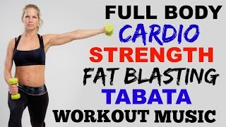 30 Minute Cardio Strength Tabata Workout, Full Body Fat Burning Cardio + Weights by Shelly Dose Fitness