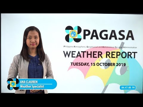 Public Weather Forecast Issued at 4:00 PM October 15, 2019