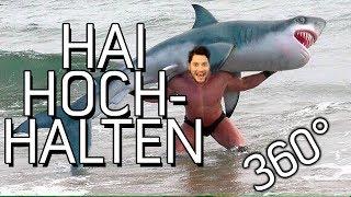 Hai Hochhalten im 360° Video