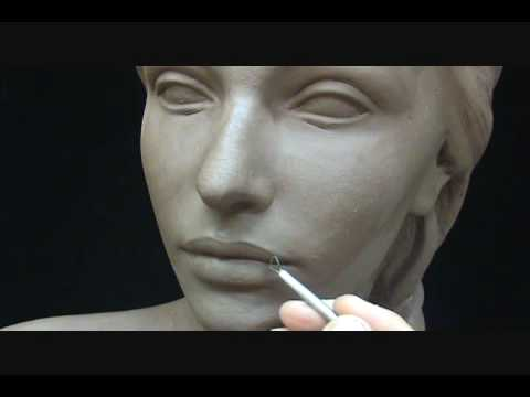 clay sculpture female head by joanna mozden
