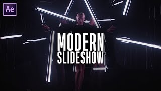 Free Modern Slideshow for After Effects