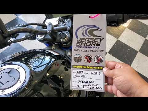 2019 Suzuki SV650 ABS in Middletown, New Jersey - Video 1