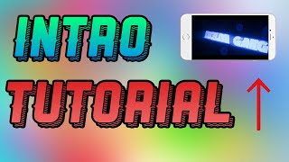 HOW TO MAKE AN INTRO ON A IPHONE !!!!