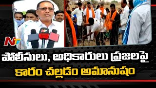 BJP holds Protest in Support to Podu Farmers in Komaram Bheem District