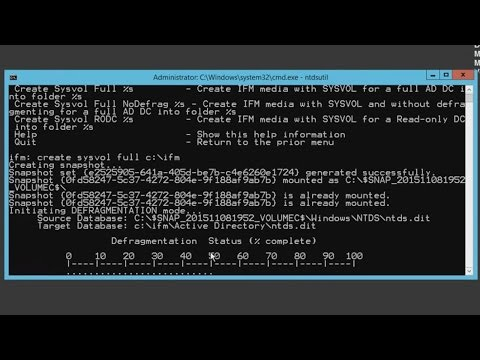 70-410 Objective 5.1 - Creating an AD Domain Controller Using IFM ...