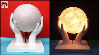 Amazing ! Room Decor Piece Making At Home  || Cool Craft Idea || Handmade Table Decor Paper  Lamp